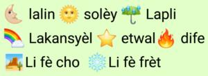 Haitian Creole weather words